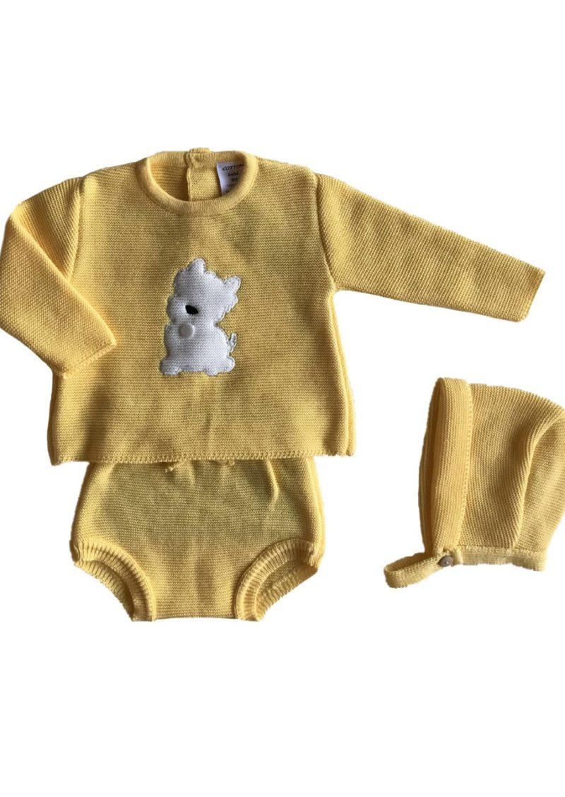 """""""conjuntos de punto de tricot originales cotton bebé"""". """"Ropa bonita de primera puesta"""". """"Ropita para los primeros meses"""". """"Ropa bebe"""". """"Cotton-bebe"""". """"ropa de punto"""". """"De venta en la tienda online de cotton-bebe"""". """"pelele de punto bebé"""". """"chaquetón de bebé"""". """"Complementos de moda"""". """"Bebé molón"""" """"color amarillo para bebé"""". """"conjunto de pantalón"""". """"conjunto amarillo de punto"""" """"conjuntos de algodón"""". """"Cojuntos de bebé"""". """"Bebé molón"""". """"Ropita de bebé diferente"""". """"Trajes de recien nacido"""" Tejidos hipoalergénicos para bebér"""" """"Cotton bebé"""". """"Cotton baby"""" . """"Spanish Knitted baby clothes"""". """"Polainas"""". """"Peleles"""". """"Ranitas""""."""