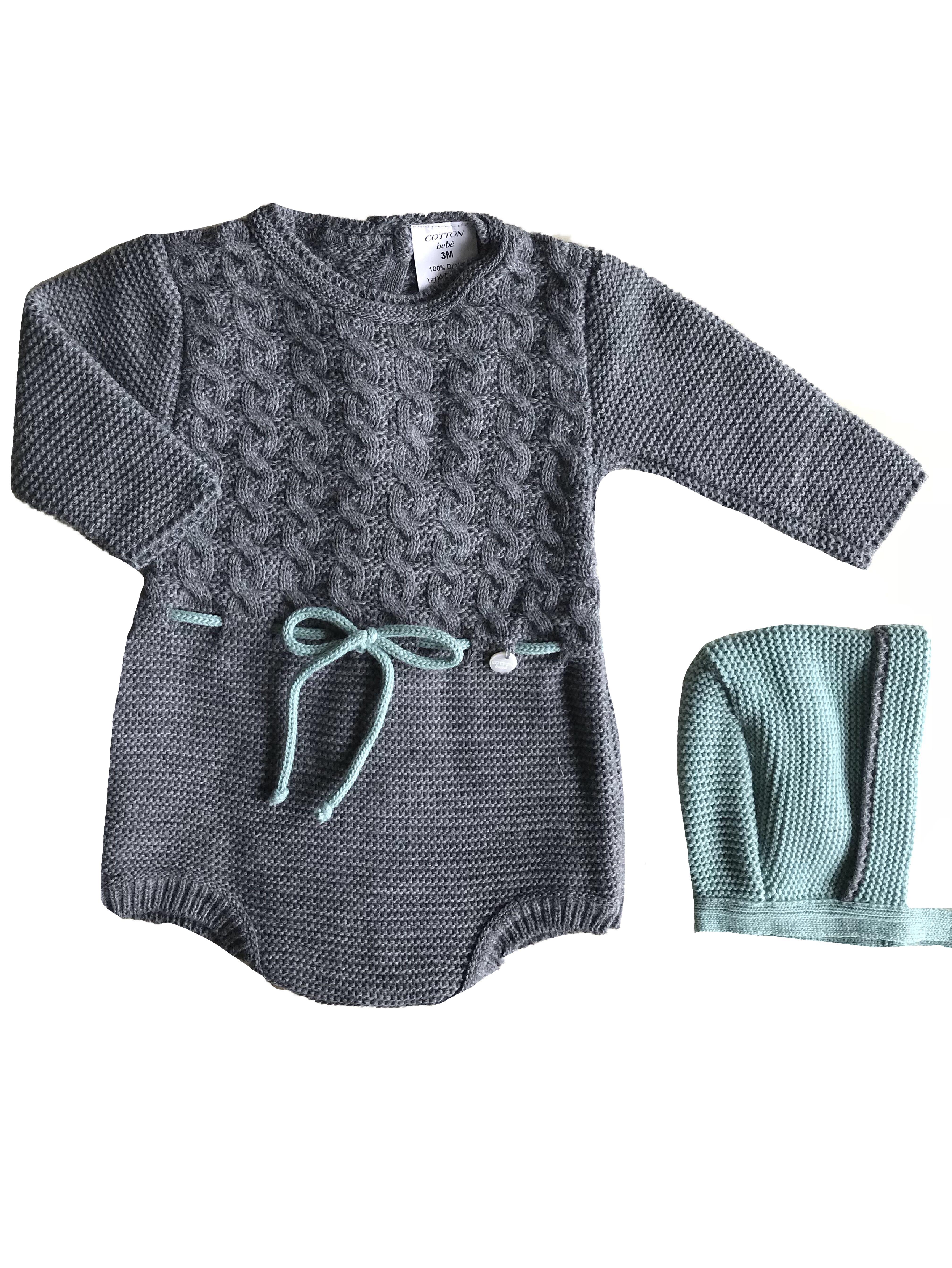 Body manga larga de coletas y cord n a cintura lleva capota color gris 0 3 6 9 meses cotton - Heces color verde bebe 2 meses ...